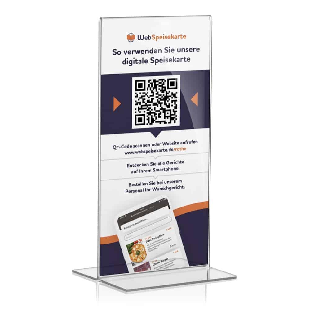Digitale Speisekarte Flyer - WebSpeisekarte